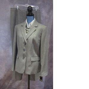 NEW Le Suit Quebec Greystone Gray Pants & Blazer